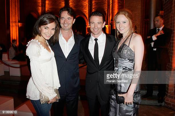 Actress Nadine Warmuth and Martin Bachmann and producer Oliver Berben and model Barbara Meier attend the World premiere of 'Pope Joan' at the Sony...