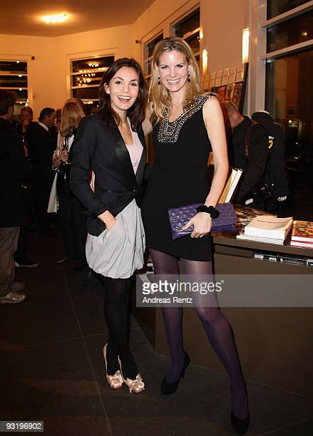 Actress Nadine Warmuth and Miriam Friedrich attend the IHT Techno Luxury Conference cocktail at The Corner on November 18 2009 in Berlin Germany