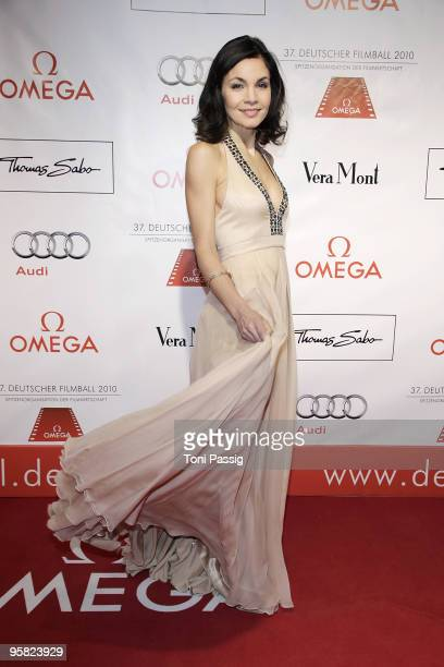 Actress Nadine Warmuth attends the 37 th German Filmball 2010 at the hotel Bayrischer Hof on January 16, 2010 in Munich, Germany.