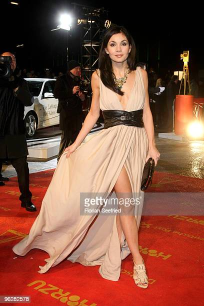 Actress Nadine Warmuth attends the Goldene Kamera 2010 Award at the Axel Springer Verlag on January 30, 2010 in Berlin, Germany.