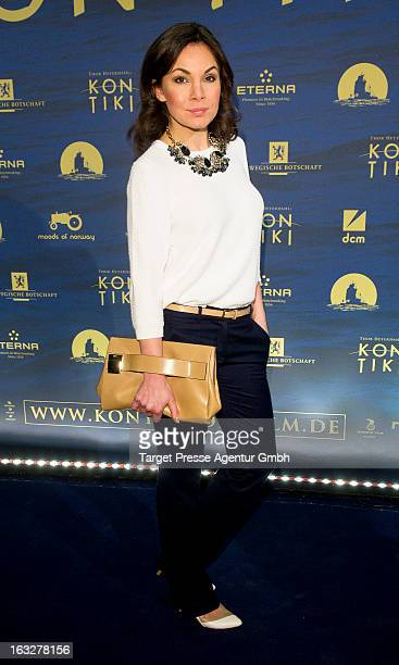 Actress Nadine Warmuth attends the 'KonTiki' Premiere at Kino International on March 6 2013 in Berlin Germany