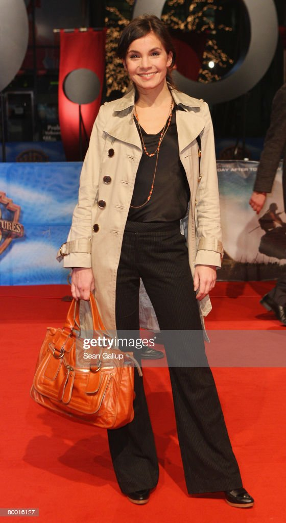Actress Nadine Warmuth attends the world premiere of '10,000 B.C.' at the Sony Center CineStar on February 26, 2008 in Berlin, Germany.