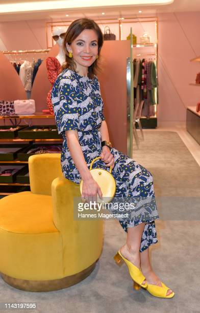 Actress Nadine Warmuth during the opening of the new Kate Spade New York boutique store on April 16, 2019 in Munich, Germany. This store marks Kate...