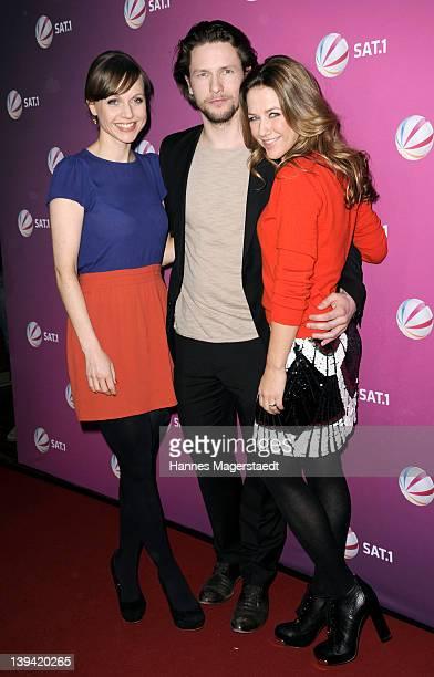 Actress Nadja Becker, Bert Tischendorf and Alexandra Neldel attend 'Die Rache Der Wanderhure' - Photocall at the G.O.P. Variete on February 20, 2012...