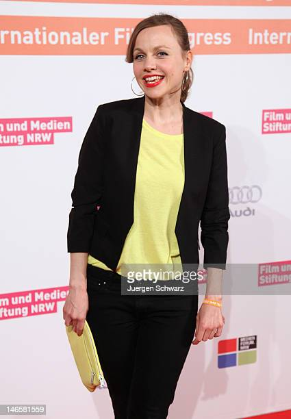 Actress Nadja Becker poses during a photo call at the Filmparty NRW 2012 hosted by Film und Medienstiftung NRW on June 19 2012 in Cologne Germany