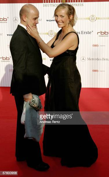 Actress Nadja Uhl and her boyfriend Kay Bockhold attend the German Film Awards at the Palais am Funkturm May 12 2006 in Berlin Germany