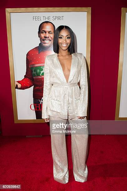 Actress Nafessa Williams arrives at the premiere of Universal's 'Almost Christmas' at Regency Village Theatre on November 3 2016 in Westwood...