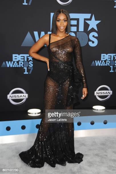 Actress Nafessa Williams attends the 2017 BET Awards at Microsoft Theater on June 25 2017 in Los Angeles California