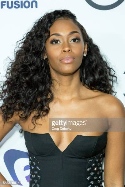 Actress Nafessa Williams attends the 2nd Annual All Def Movie Awards at Belasco Theatre on February 22 2017 in Los Angeles California