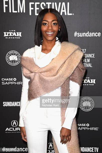 Actress Nafessa Williams attends the Burning Sands Premiere at Eccles Center Theatre on January 24 2017 in Park City Utah