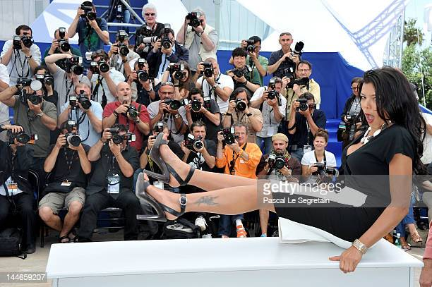 Actress Nahed El Sebai poses at the Baad el Mawkeaa photocall during the 65th Annual Cannes Film Festival at Palais des Festivals on May 17 2012 in...