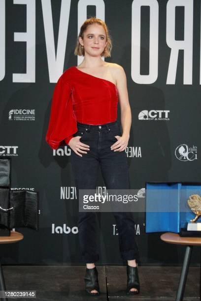 Actress Naian Gonzalez posing for the media during a presentation of the movie Nuevo Orden at Cineteca Nacional on October 14 2020 in Mexico City...