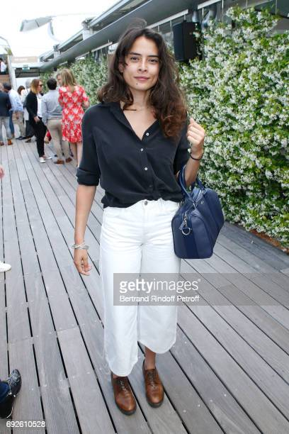 Actress Nailia Harzoune attends the 2017 French Tennis Open Day Height at Roland Garros on June 4 2017 in Paris France