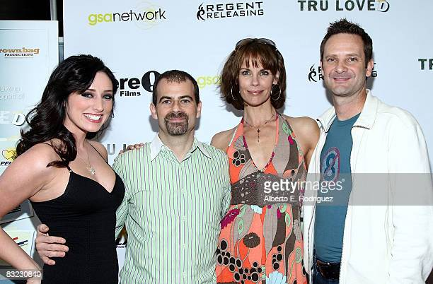 Actress Najarra Townsend writer/director Stewart Wade actress Alexandra Paul and actor Peter Bedard arrive at the premiere of Regent Entertainment's...