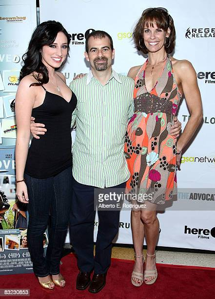 Actress Najarra Townsend writer/director Stewart Wade and actress Alexandra Paul arrive at the premiere of Regent Entertainment's 'Tru Loved' held at...