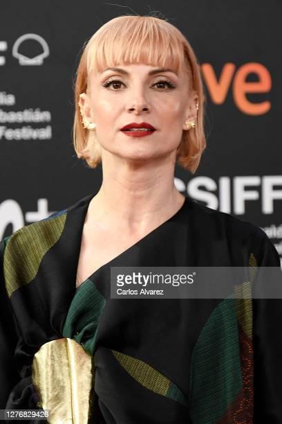"""Actress Najwa Nimri attends """"El Olvido Que Seremos/Forgotten We'll Be"""" Premiere on September 26, 2020 in San Sebastian, Spain."""