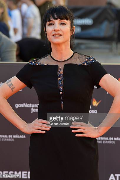 Actress Najwa Nimri attends Nuestros Amantes premiere at the Cervantes Teather during the 19th Malaga Film Festival on April 30 2016 in Malaga Spain