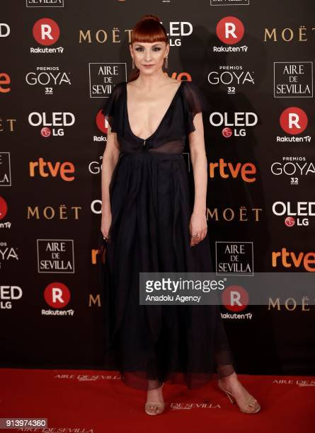 Actress Najwa Nimri attends the 32th edition of the Goya Awards ceremony in Madrid Spain on February 04 2018