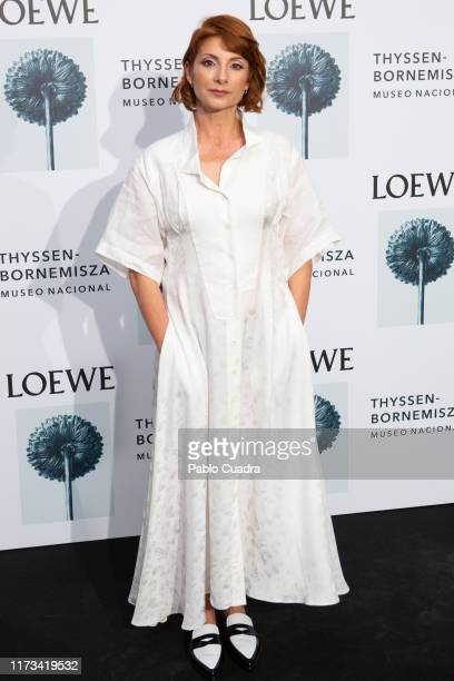 Actress Najwa Nimri attends the Loewe exhibition opening at Thyssen-Bornemisza museum on September 09, 2019 in Madrid, Spain.