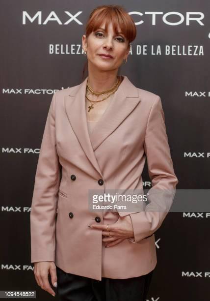 Actress Najwa Nimri attends the 'Max Factor Campaign' presentation at Allard Club on January 15 2019 in Madrid Spain