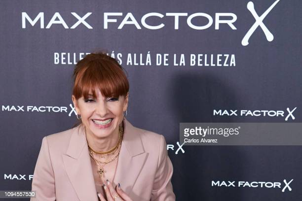 Actress Najwa Nimri attends the new Max Factor campaign presentation at the Allard Club on January 15 2019 in Madrid Spain