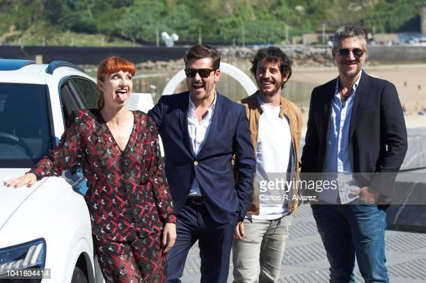 Actress Najwa Nimri, director Kike Maillo, actor Javier Pereira and actor Alberto Ammann attend 'La Octava Dimension' photocall during the 66th San...