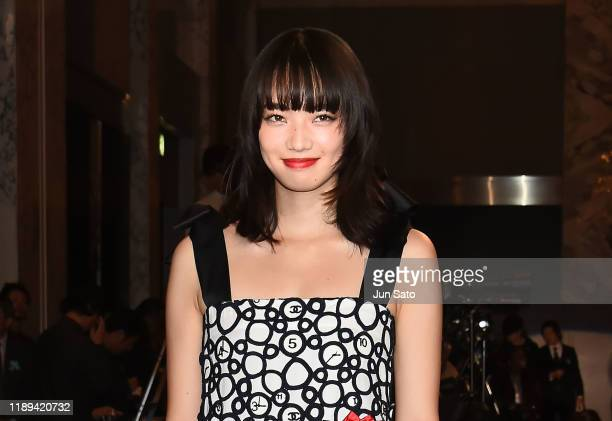 Actress Nana Komatsu attends the 44th Hochi Film Award at the Prince Park Tower Hotel on December 18, 2019 in Tokyo, Japan.