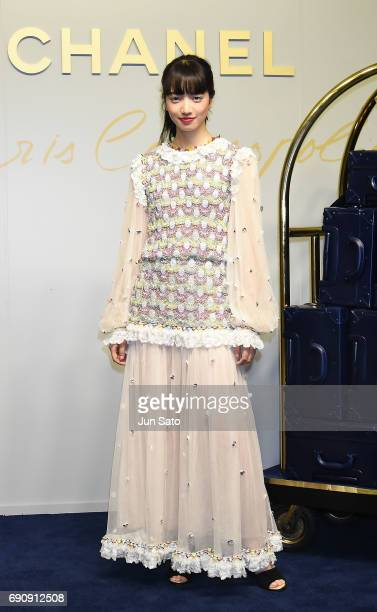 Actress Nana Komatsu attends the CHANEL Metiers D'art Collection Paris Cosmopolite show at the Tsunamachi Mitsui Club on May 31, 2017 in Tokyo, Japan.
