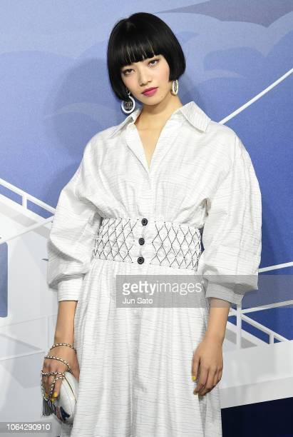 Actress Nana Komatsu attends the photocall for Chanel Daikanyama Boutique opening reception on November 22 2018 in Tokyo Japan