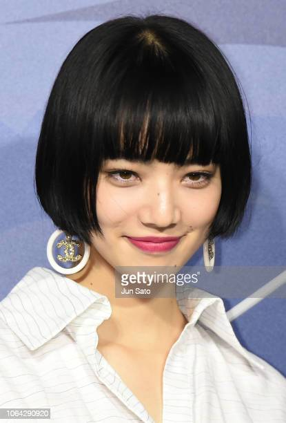 Actress Nana Komatsu attends the photocall for Chanel Daikanyama Boutique opening reception on November 22, 2018 in Tokyo, Japan.