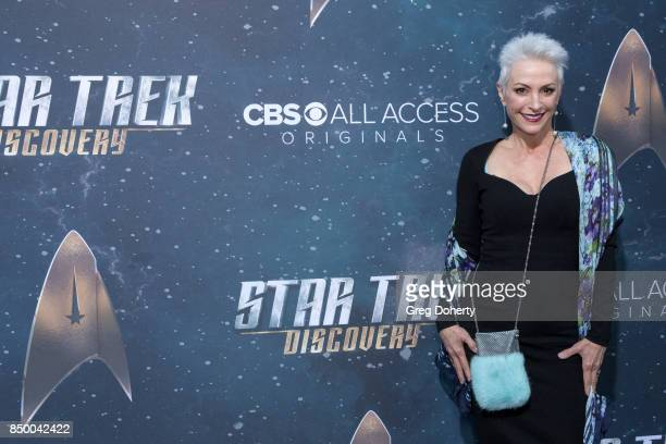 Actress Nana Visitor arrives for the Premiere Of CBS's Star Trek Discovery at The Cinerama Dome on September 19 2017 in Los Angeles California