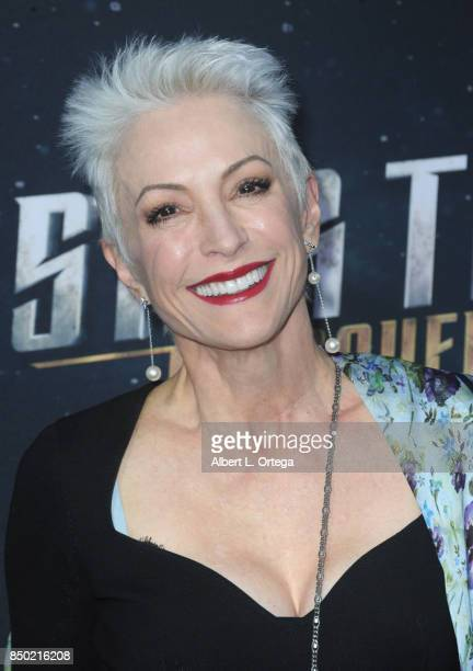 Actress Nana Visitor arrives for the Premiere Of CBS's Star Trek Discovery held at The Cinerama Dome on September 19 2017 in Los Angeles California