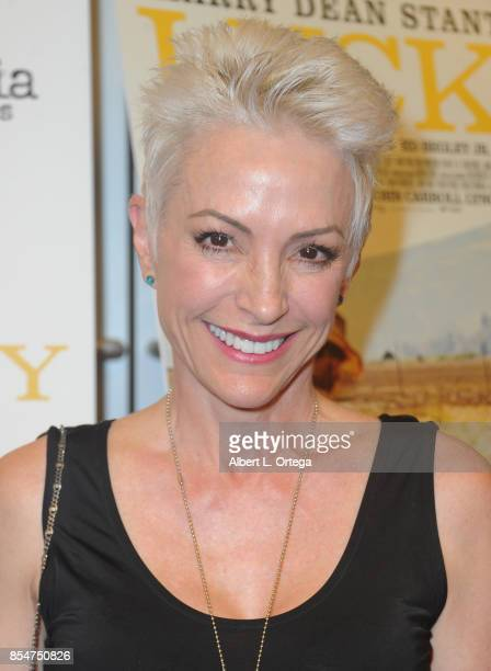 Actress Nana Visitor arrives for the Premiere Of Magnolia Pictures' Lucky held at Linwood Dunn Theater on September 26 2017 in Los Angeles California
