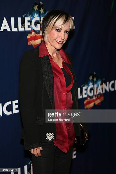 Actress Nana Visitor attends the 'Allegiance' Broadway opening night red carpet at The Longacre Theatre on November 8 2015 in New York City