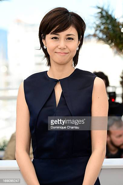 Actress Nanako Matsushima attends the Photocall of 'Wara No Tate' during the 66th Annual Cannes Film Festival at the Palais des Festivals on May 20...