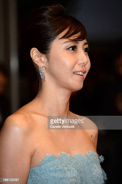 Actress Nanako Matsushima attends the Premiere of 'Wara No Tate' during the 66th Annual Cannes Film Festival at the Palais des Festivals on May 20...