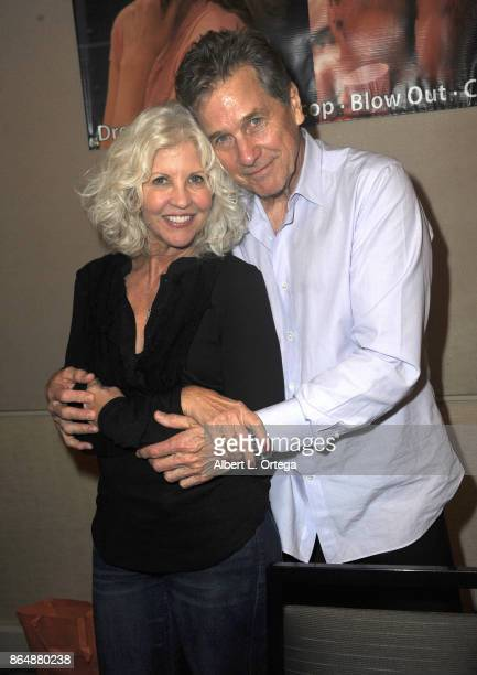 Actress Nancy Allen and actor Tim Matheson at The Hollywood Show held at Westin LAX Hotel on October 21 2017 in Los Angeles California