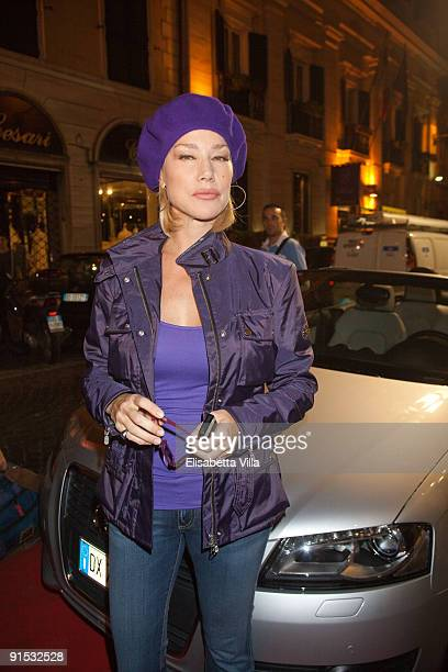 Actress Nancy Brilli attends Audi A3 Cabriolet Style By Belstaff presentation at the Belstaff Boutique on October 6, 2009 in Rome, Italy.
