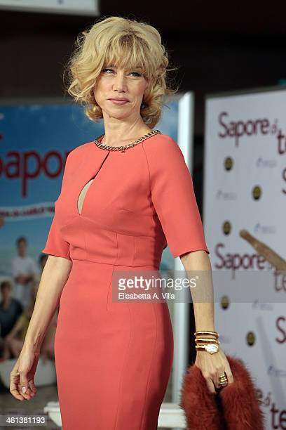 Actress Nancy Brilli attends 'Sapore Di Te' photocall at Cinema Adriano on January 8 2014 in Rome Italy
