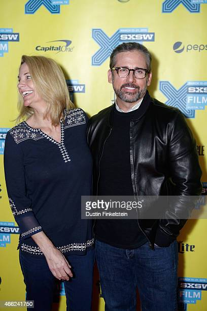 Actress Nancy Carell and writer/director/producer Steve Carell attend the premiere of 'Angie Tribeca' during the 2015 SXSW Music Film Interactive...