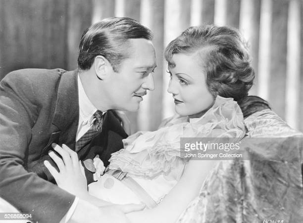 Actress Nancy Carroll as Grace Clark and actor Edward Lowe as Brains Stanley in the 1933 motion picture I Love That Man