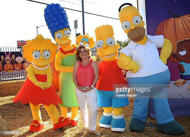 Actress Nancy Cartwright and The Simpsons attend Fox Hosts Animation Domination Pumpkin Patch Takeover at Lopez Pumpkin Patch on October 4 2012 in...