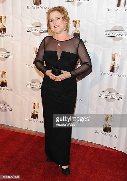 Actress Nancy Cartwright arrives at the 41st Annual Annie Awards at Royce Hall UCLA on February 1 2014 in Westwood California