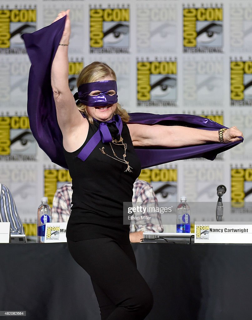Actress Nancy Cartwright arrives at 'The Simpsons' panel during Comic-Con International 2015 at the San Diego Convention Center on July 11, 2015 in San Diego, California.