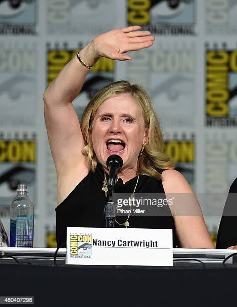 Actress Nancy Cartwright attends The Simpsons panel during ComicCon International 2015 at the San Diego Convention Center on July 11 2015 in San...