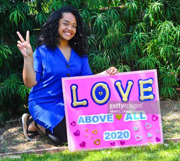 Actress Nancy Fifita participates in supporting the launch Of #LOVEaboveALL2020 movement on July 7 2020 in Los Angeles California #LOVEaboveALL2020...