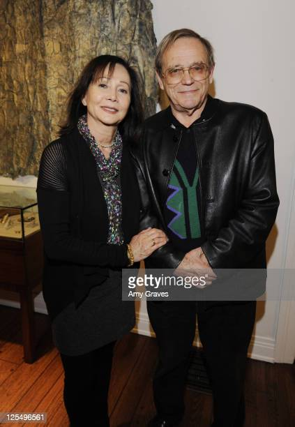 Actress Nancy Kwan and husband Norbit Meisel attend the Charlotte Bjorlin Delia Jewelry Show and Manfred Menz Art Show at Roseark on December 1 2010...