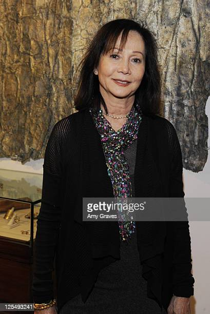 Actress Nancy Kwan attends the Charlotte Bjorlin Delia Jewelry Show and Manfred Menz Art Show at Roseark on December 1 2010 in West Hollywood...