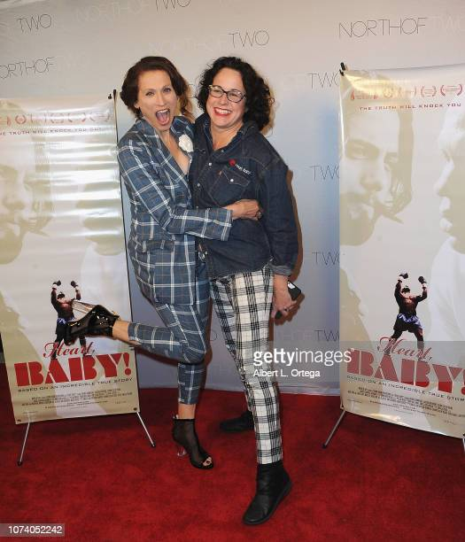 Actress Nancy LaScala and director Angela Shelton arrive for the premiere of 'Heart Baby' held at The Ahrya Fine Arts Laemmle Theater on November 23...