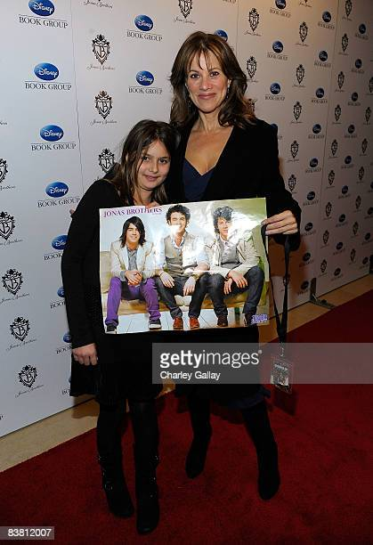 Actress Nancy Lee Grahn arrives with daughter Kate at the book launch for 'Burning Up On Tour With The Jonas Brothers' at the Sunset Tower hotel on...